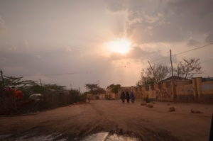 Hargeisa Road with Low Sun