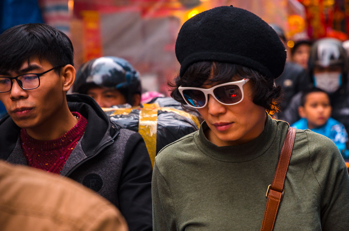 Hanoi - Woman with Sun Glasses