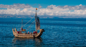 Reed Boat - Island of the Sun - Lake Titicaca