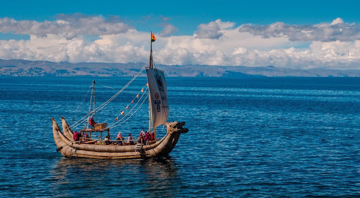 Reed Boat - Island of the Sun - Lake Titicaca