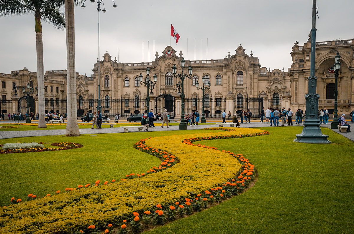 View outside the Presidential House - Peru