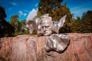 Sibelius Face rock sculpture - Helsinki