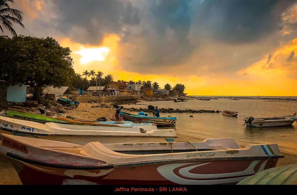Fishing boats at sunset - Jaffna Peninsula