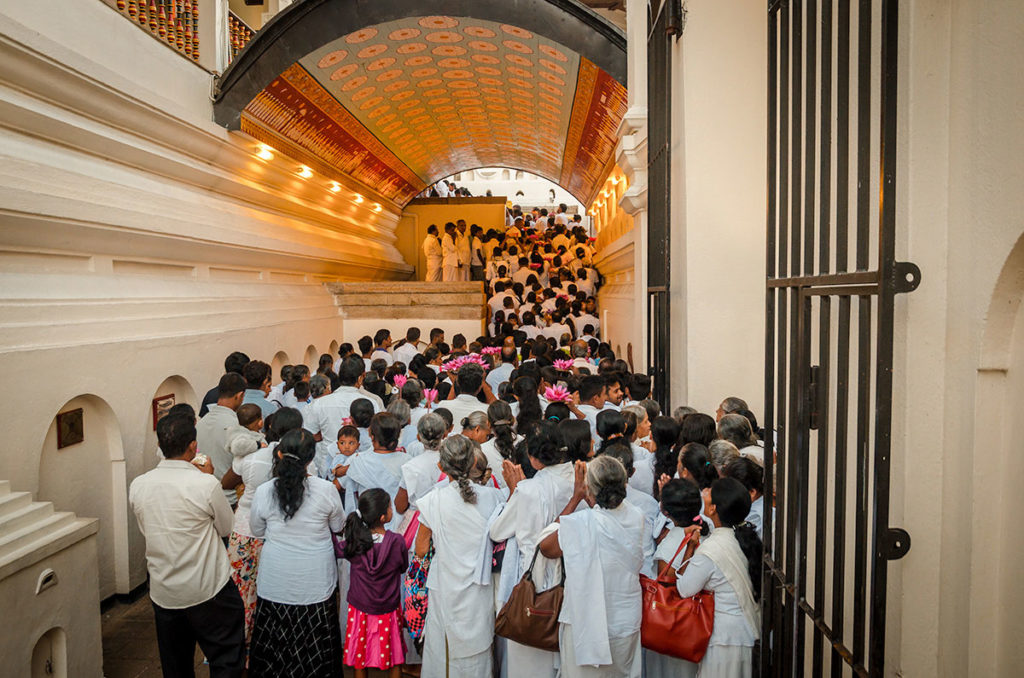 Hall full of Buddhist Pilgrims - Temple of the Sacred Tooth