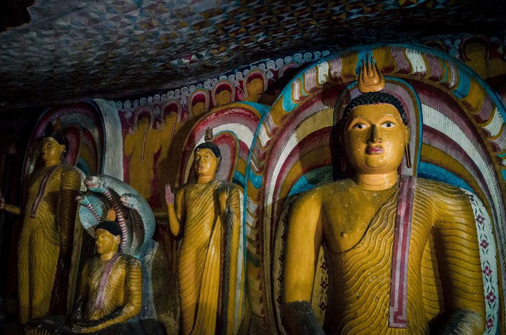 Buddhist statues - Dambulla Cave