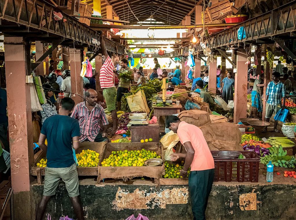 Busy Central Food Market - Jaffna Peninsula