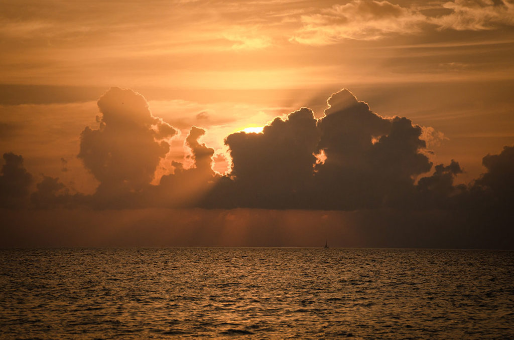 Sunset view by the beach - Dhigurah