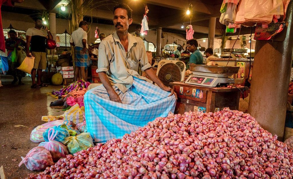 Shallots Vendor - Jaffna City