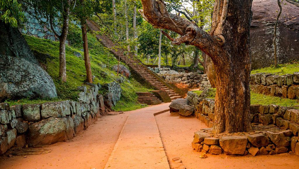 Sigiraya Rock landscaped grounds - Sri Lanka