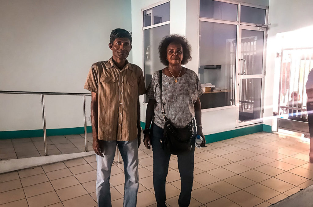 Khadija with a local volunteer - Malé