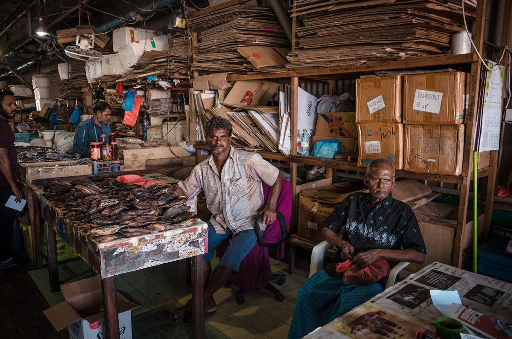 Smoked and dried fish vendor - Malé