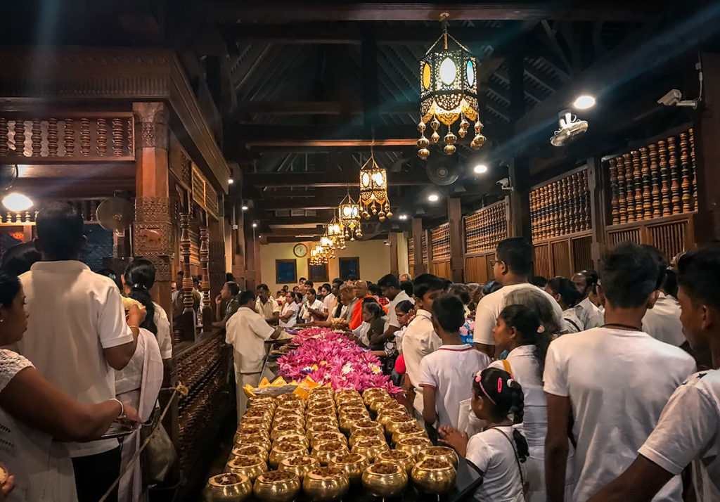 Inner Chambers of Temple of the Tooth - Sri Lanka