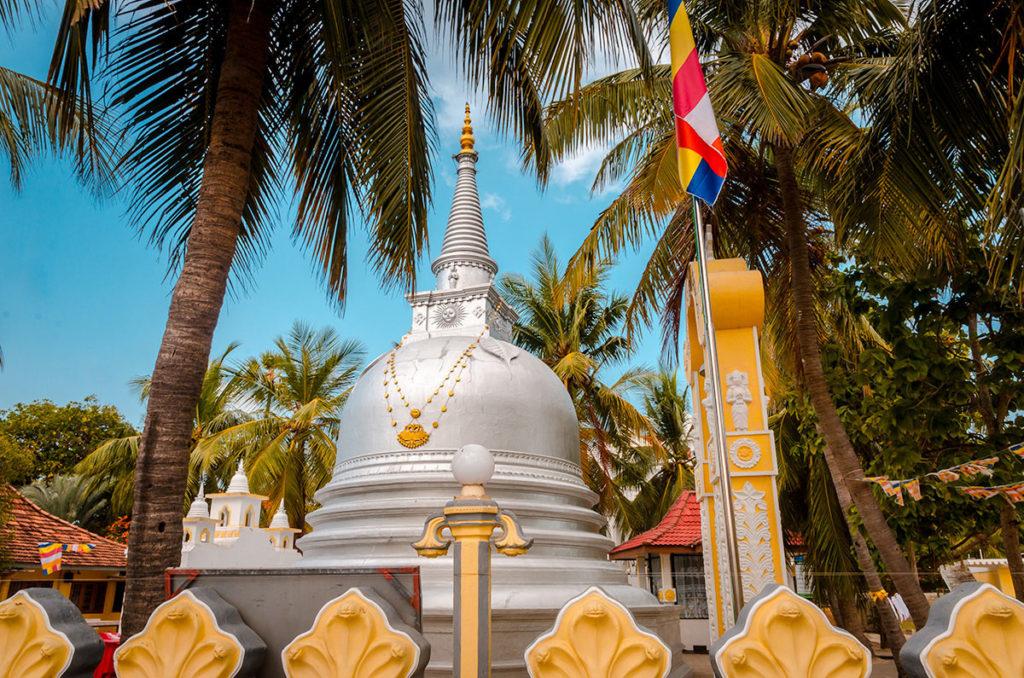 Silver and gold stupa - Nagadeepa Purana Vihara
