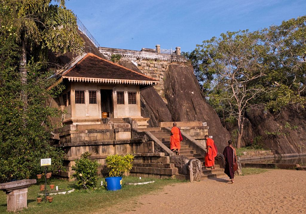 Monks at Isurumuniya Vihara Monastic Complex - Anuradhapura