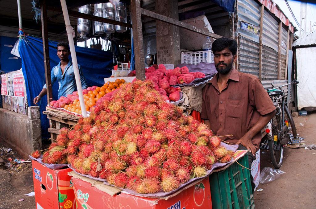 Rambutan vendor - Jaffna City