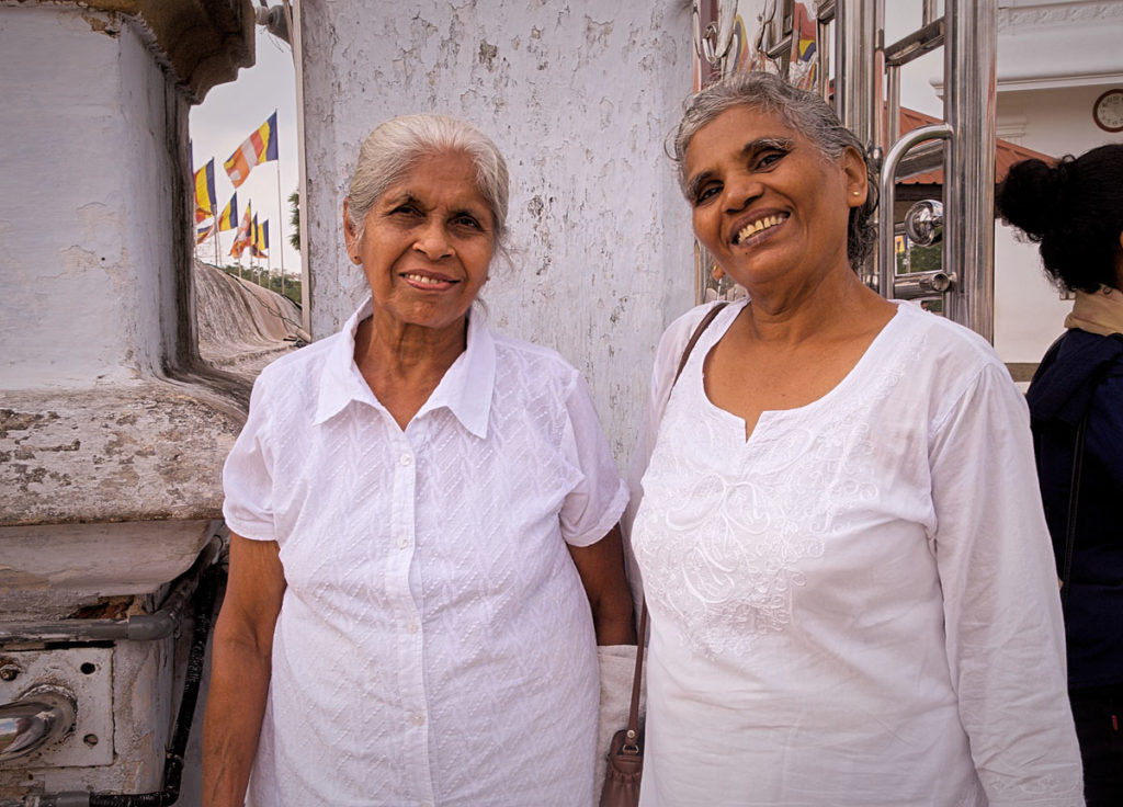 Two local women at Ruwanwelisaya - Anuradhapura