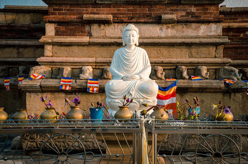 White Buddha statue - Anuradhapura