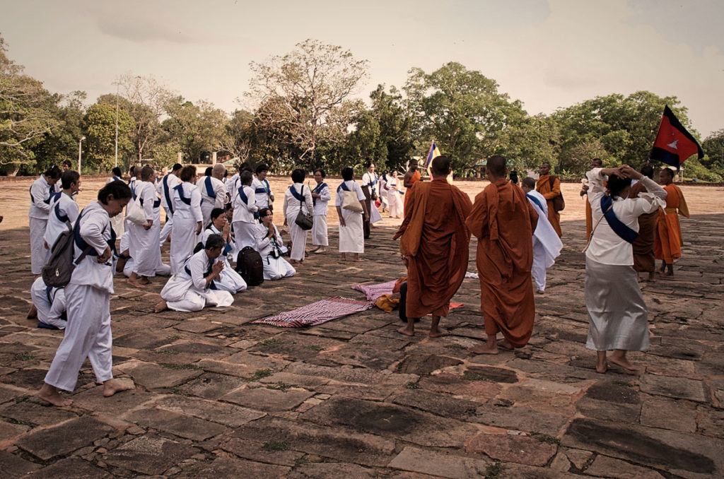 Pilgrims from Cambodia - Anuradhapura