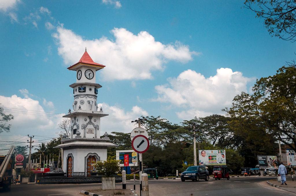 Clock tower with Lions and Elephants - Sri Lanka