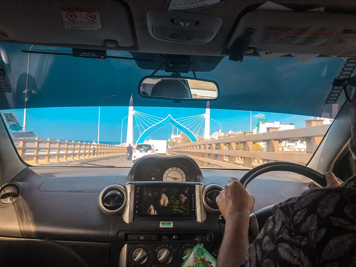 Crossing Hulhumalé Bridge - Maldives
