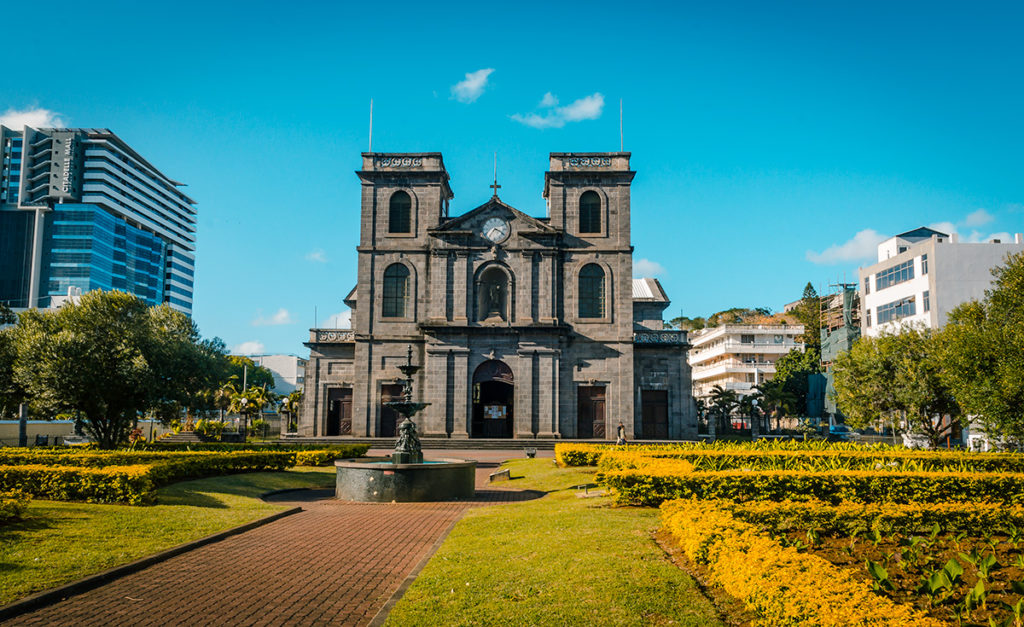 St Louis Cathedral Exterior Mauritius