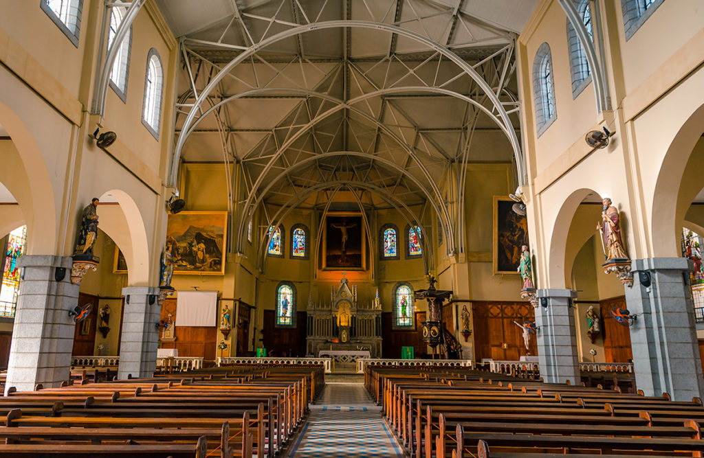 St Louis Cathedral Interior Mauritius