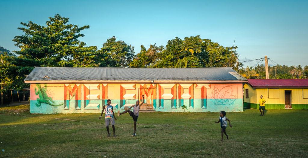 Mele Maat Village Soccer Players
