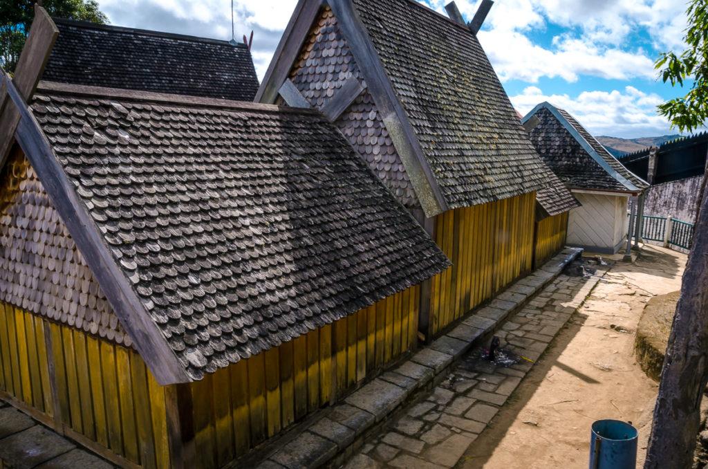 Wood Houses for Tombs Ambohimanga Madagascar