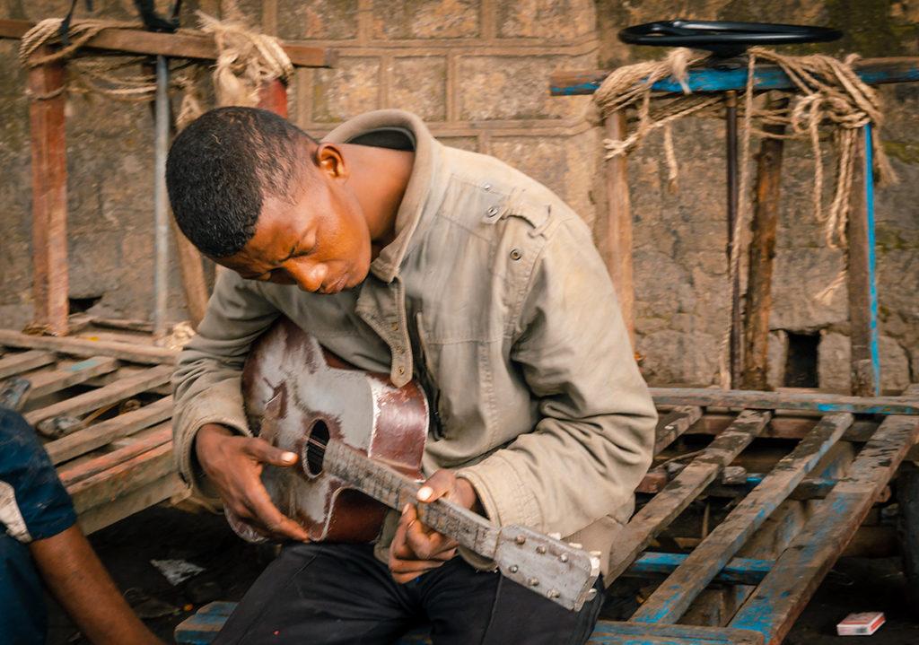 Fianarantsoa Man with Guitar