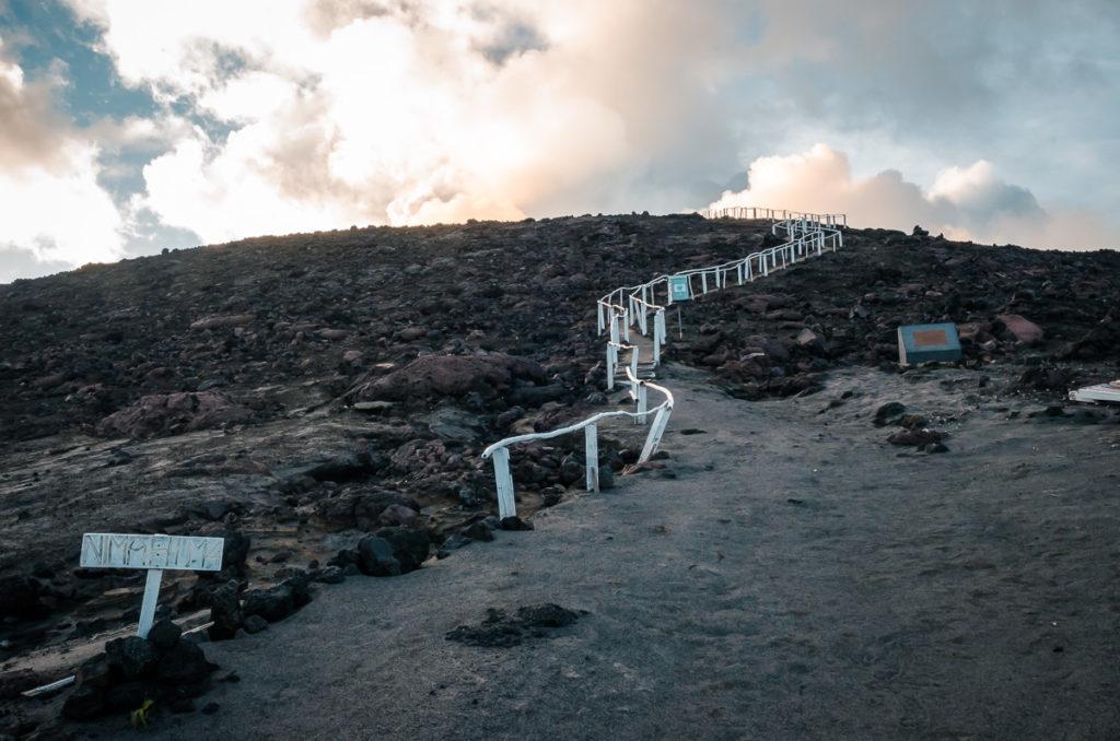 Steps to Mt. Yasur