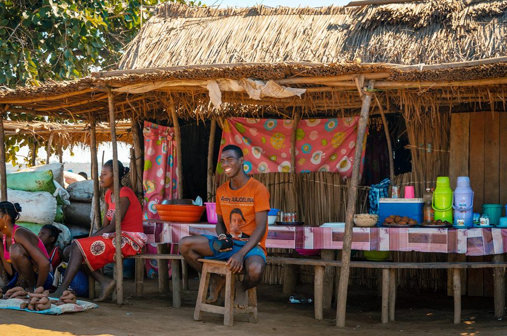 Tsiribihnia Ferry Drink Stand in Madagacar