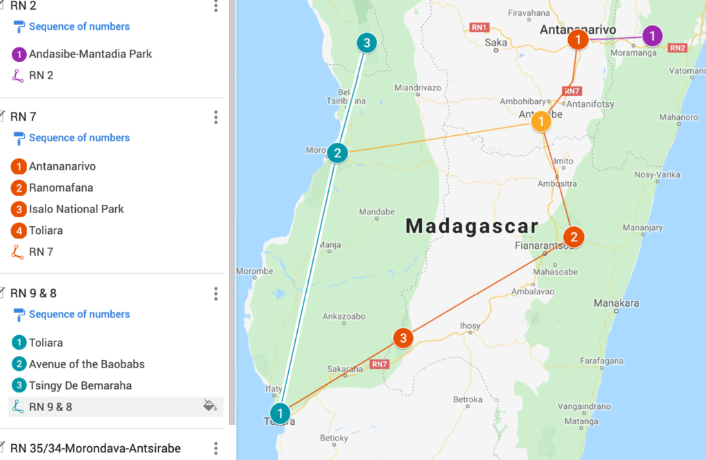 Map of Southern Madagascar