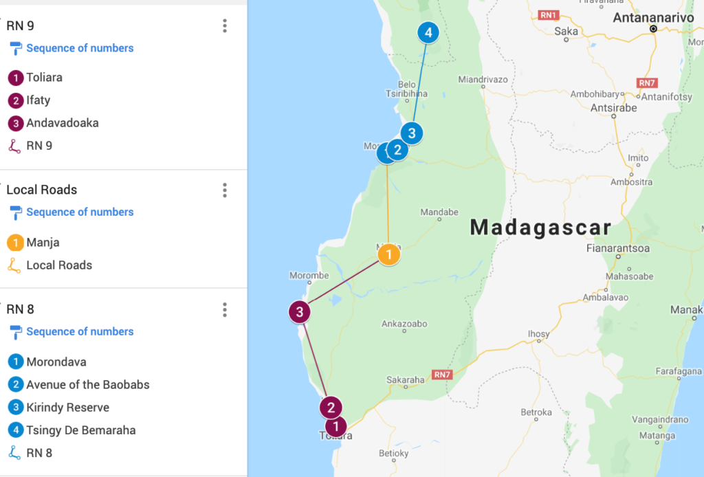 Southwest Madagascar Map