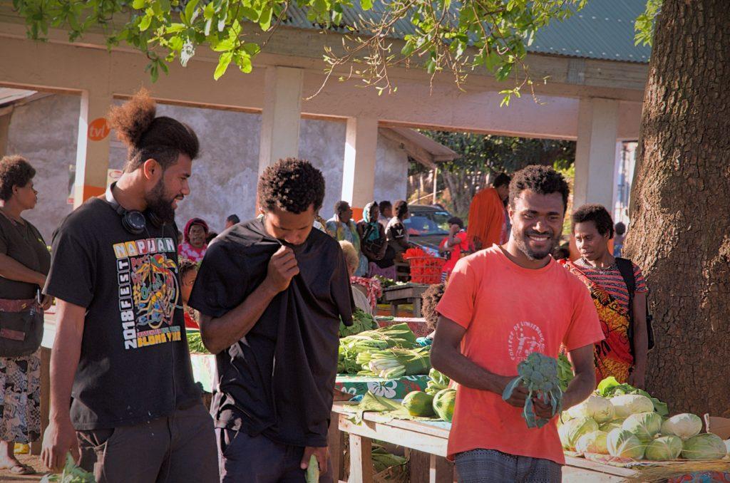 Men in Lenakel Market