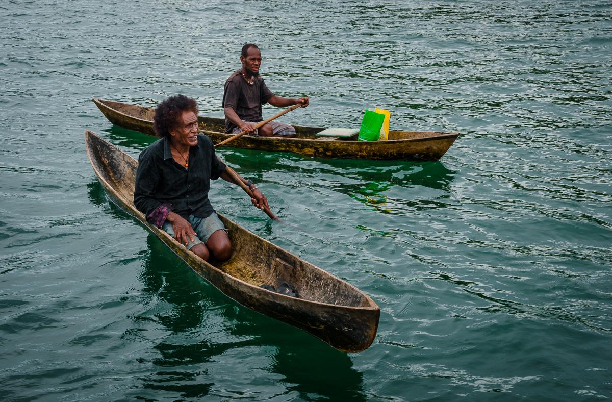Solomon Islands Dugout Canoes