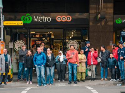 12 Melbourne Metro Station Crowd (NEW DSC_1462 Metro Station Crowd)