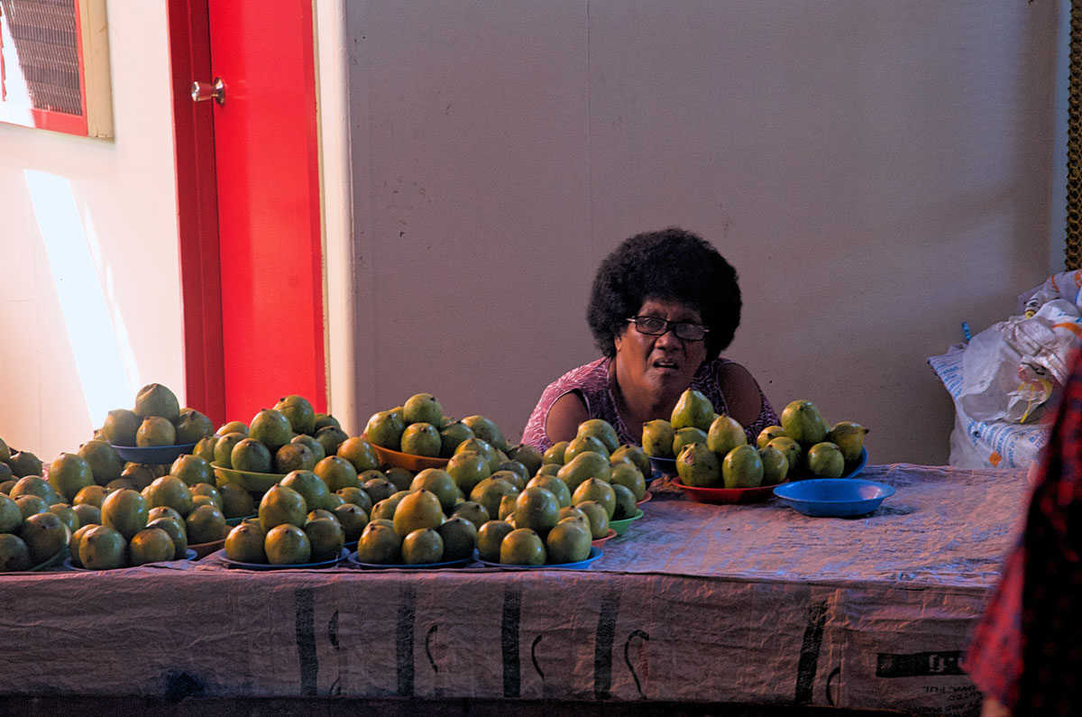 Suva Central Food Market Woman Vendor