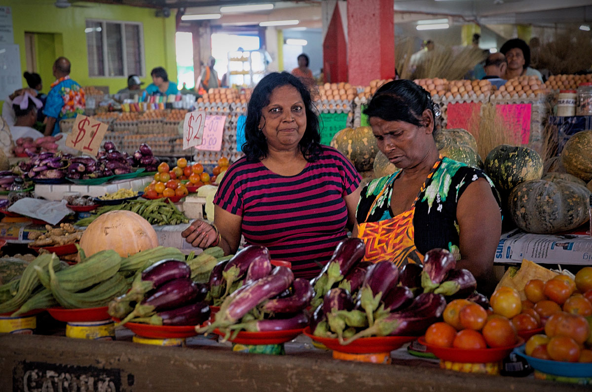 Suva Central Food Market Two Women Vendors