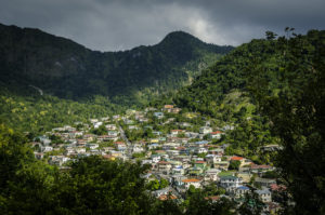 View of Soufriere Village