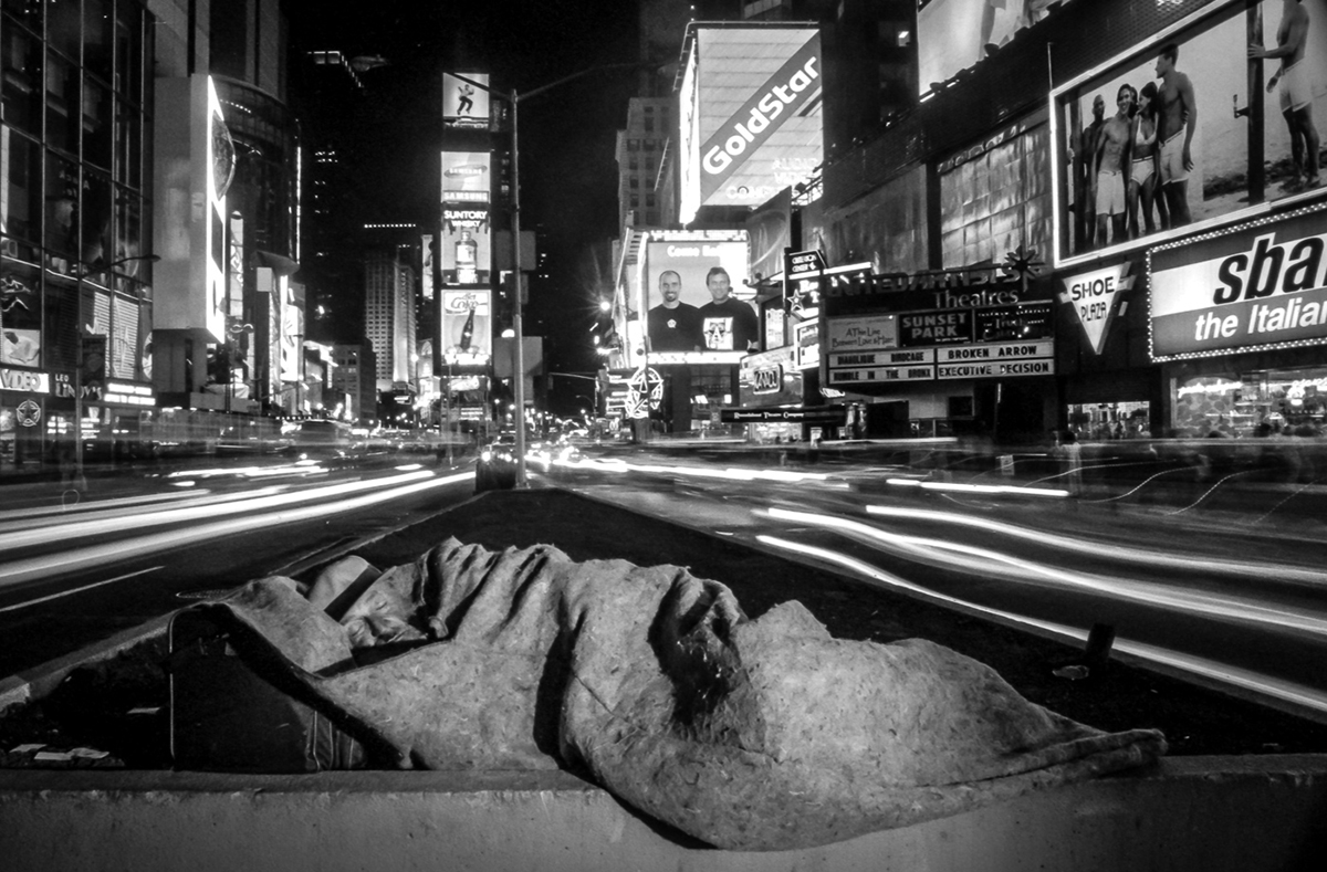 Times Square - Sleeping Man