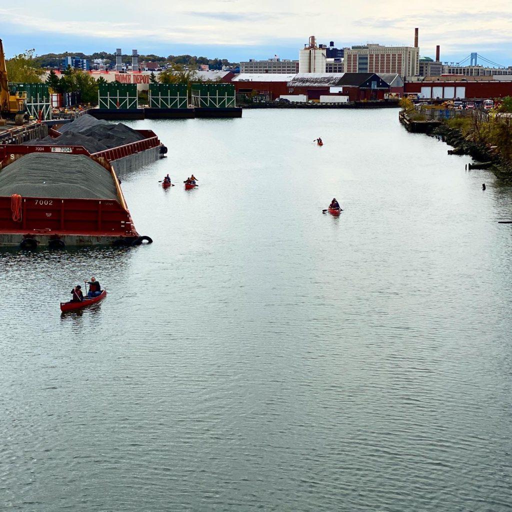 Gowanus Canal With Canoers