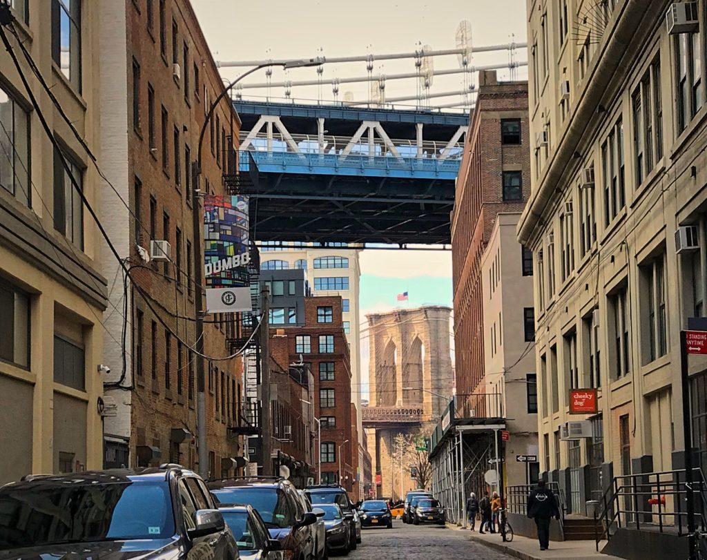 Dumbo view of the Brooklyn Bridge