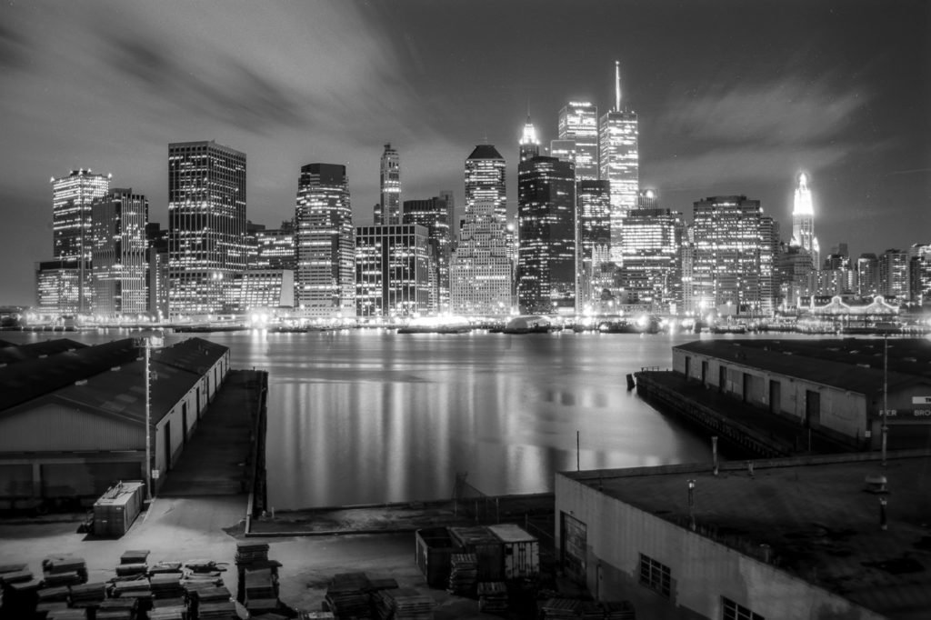 Manhattan Skyline From Brooklyn Promenade