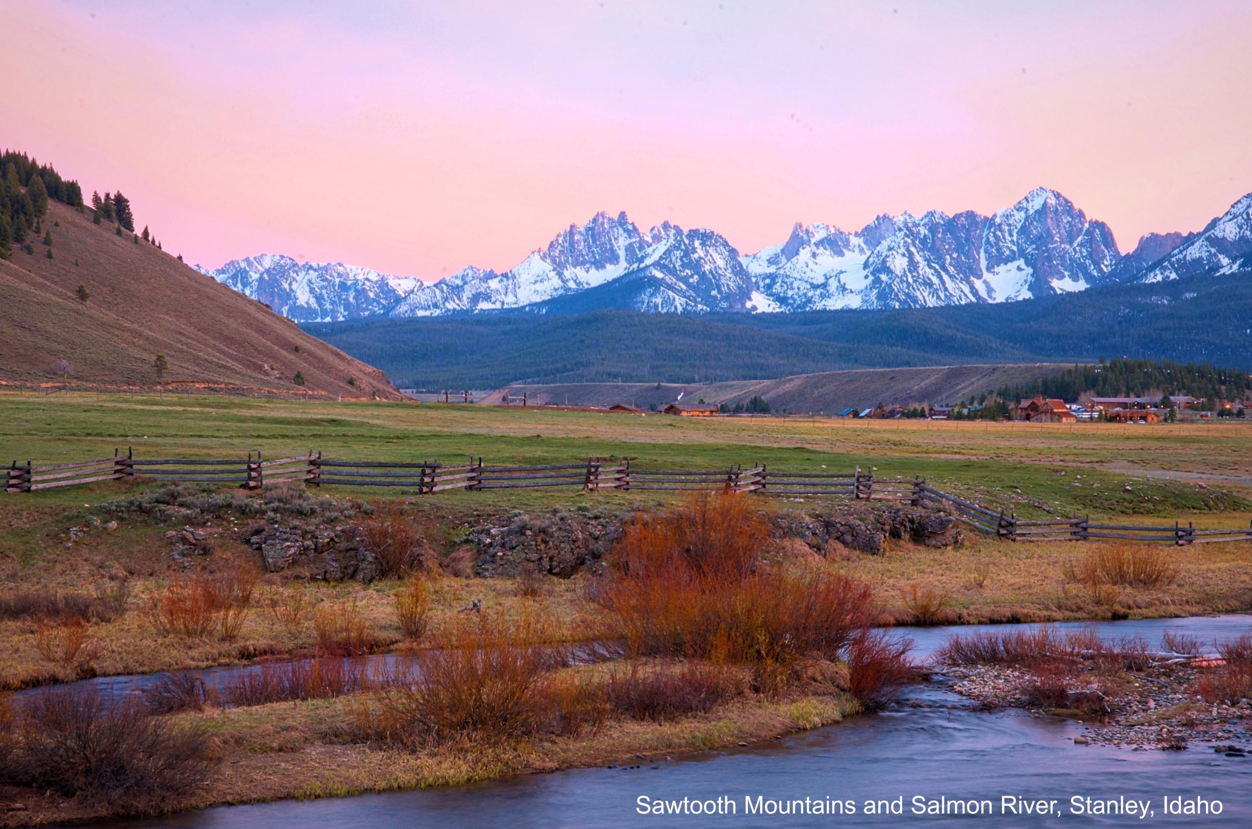 Stanley Idaho, Sawtooth Mountains, Salmon River