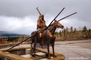 Blackfeet Warrior on Horse Statue